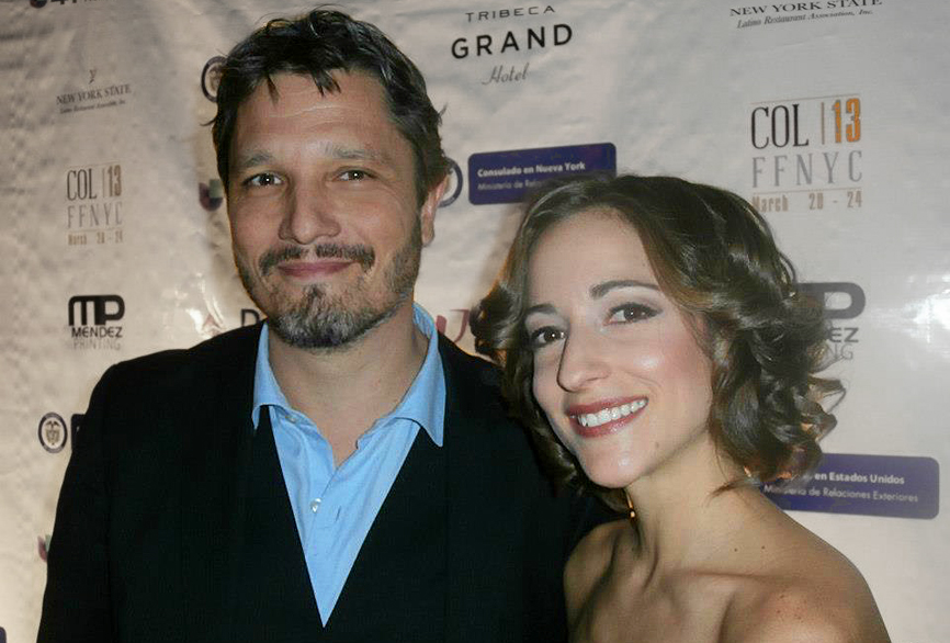 Dominik Tiefenthaler and Carolina Ravassa at the 2013 Colombian Film Festival NYC, Tribeca Cinemas.