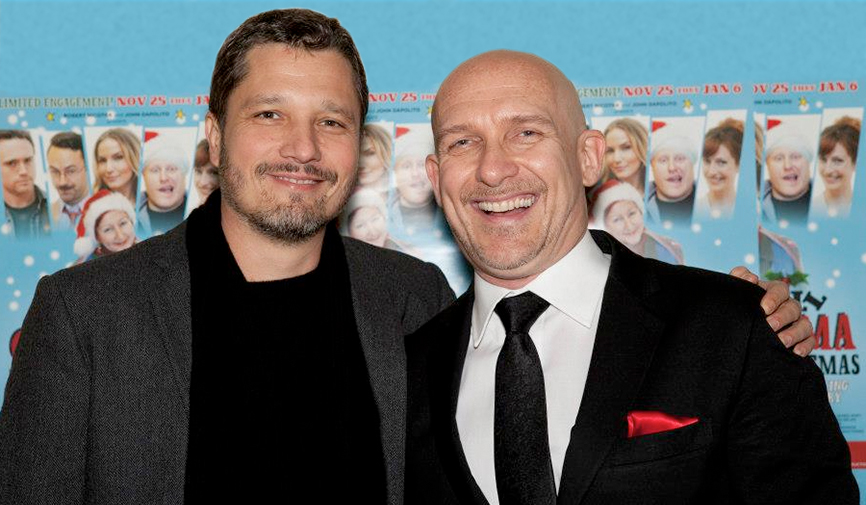 Dominik Tiefenthaler and John Dapolito at the Premiere of Let's Kill Grandma this Christmas.