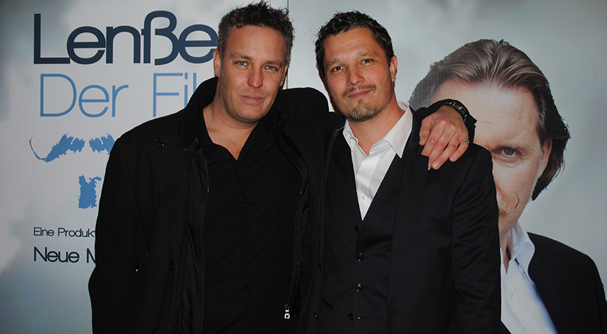 Christian Storm and Dominik Tiefenthaler at the Premiere of Lenssen, der Film.