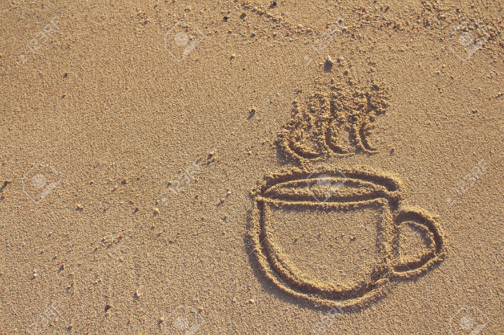 26487899-Vintage-coffee-cup-drawn-on-sand-beach-filtered-image-Stock-Photo.jpg