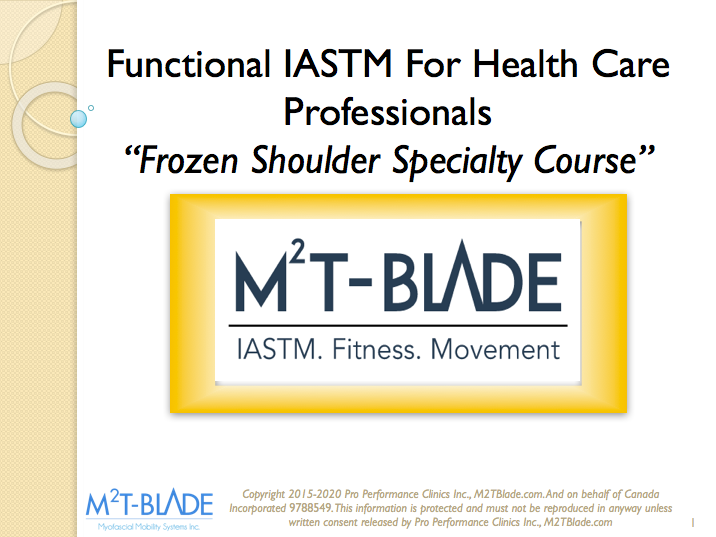 Frozen Shoulder Specialty Course