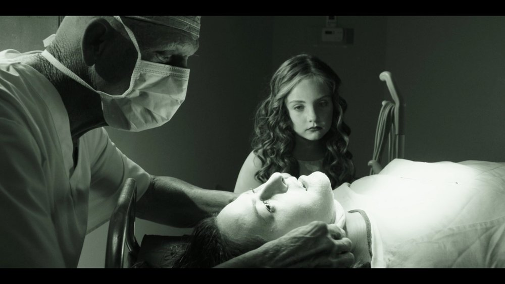 Scout Taylor-Compton, Michael Berryman, and Sailor Holland in CURED. (Official film still)
