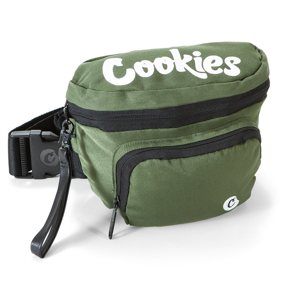 ENVIRONMENTAL FANNY PACK - ° MEDIUM FANNY PACK° POLYESTER° SMELL-PROOF° DOUBLE ZIPPER° JACQUARD STRAP