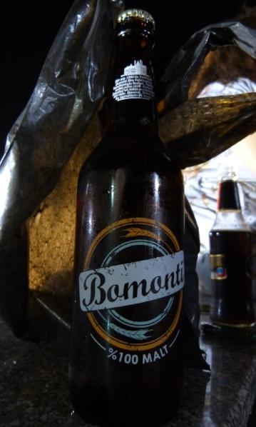 A half-liter bottle of Bomonti.