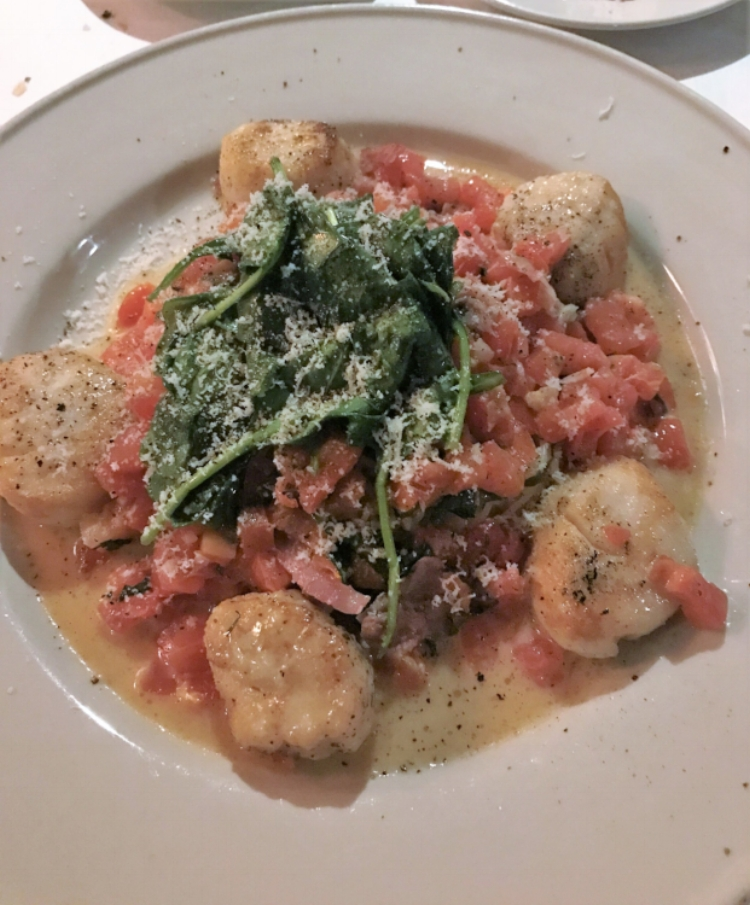 One of six Romano family recipes on the menu, this dish paired plump seared scallops with a lemon butter sauce speckled with prosciutto, providing the perfect salty kick.