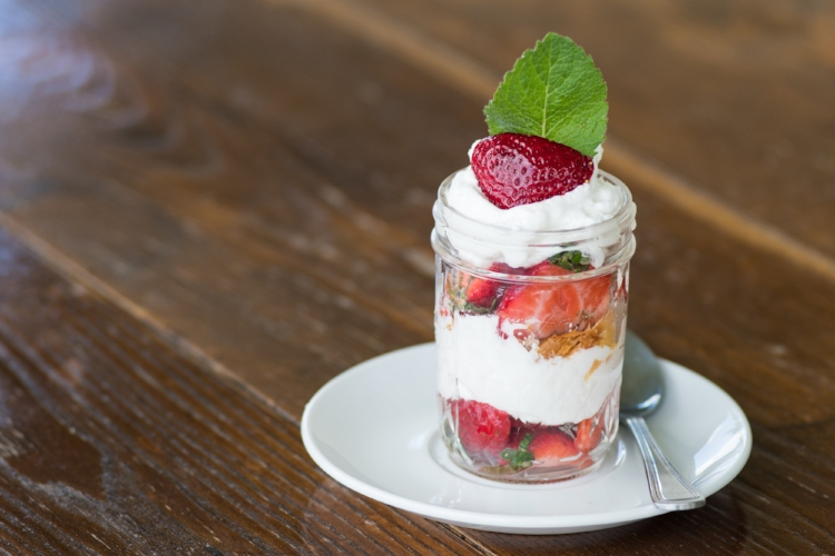 Strawberry parfait from Hunt's Cafe. Credit: Matt Kelly