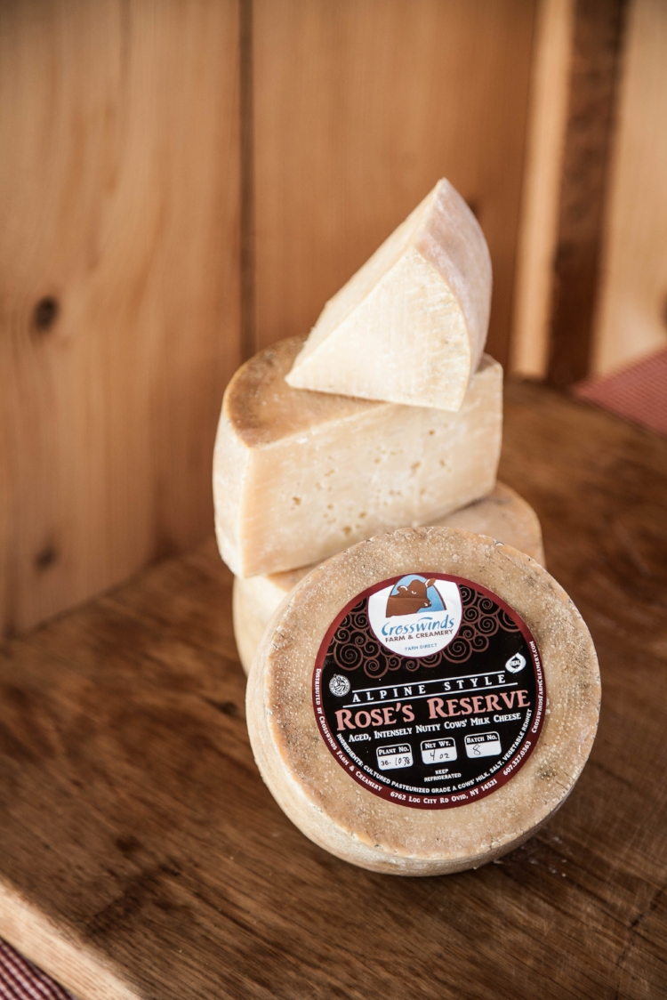 Rose's Reserve, an aged Swiss-style cheese made by Crosswinds Farm & Creamery. Credit: Provided.