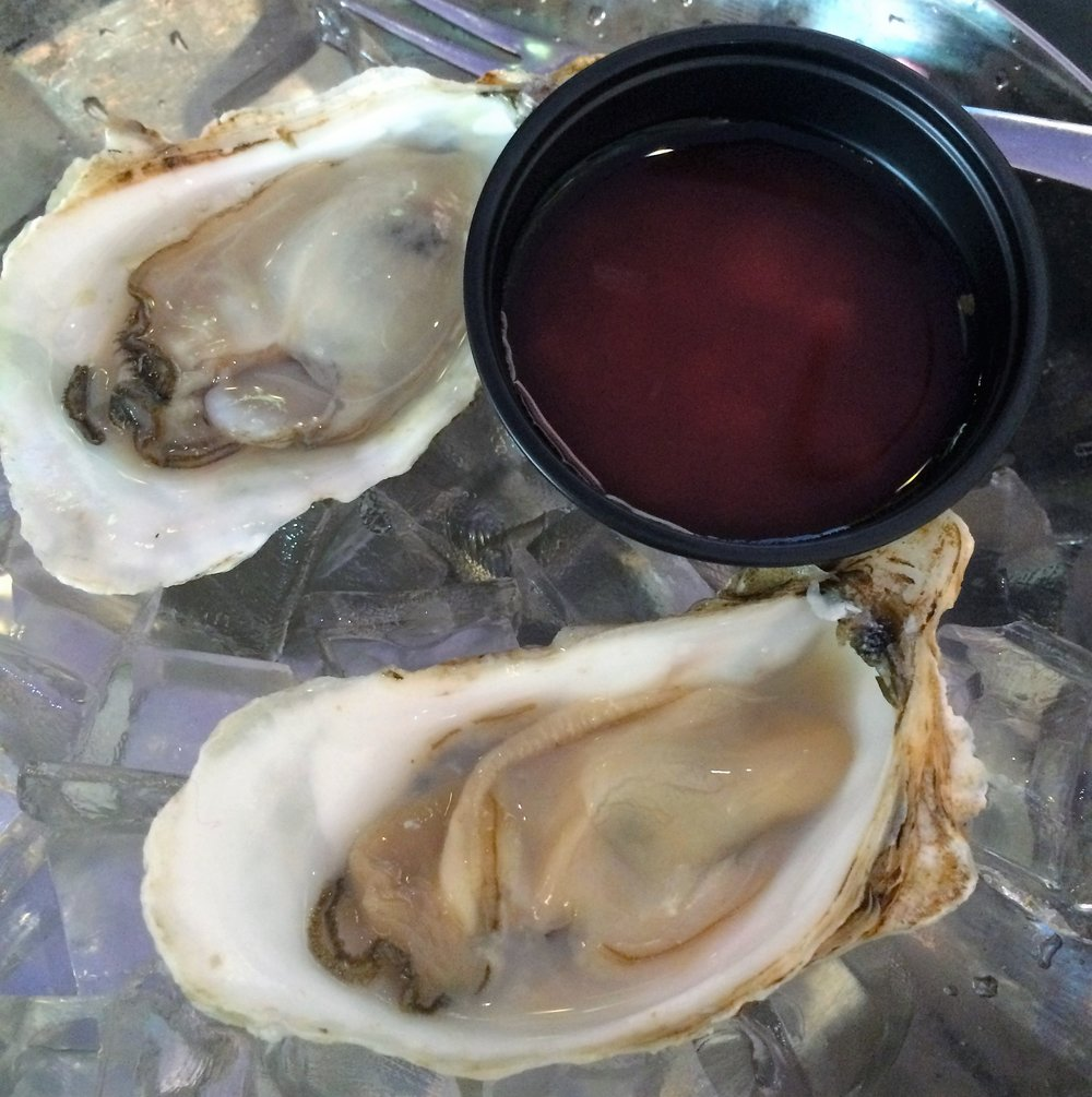 The sweet, briny oysters that day came from the Pacific Northwest.