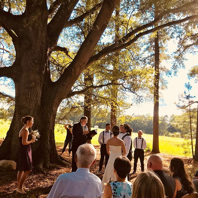 Last night's wedding at the farm was amazing. The ceremony took place under the trees and the reception was in the covered barn. The weather was perfect, food was delicious, and the dance floor hopping.