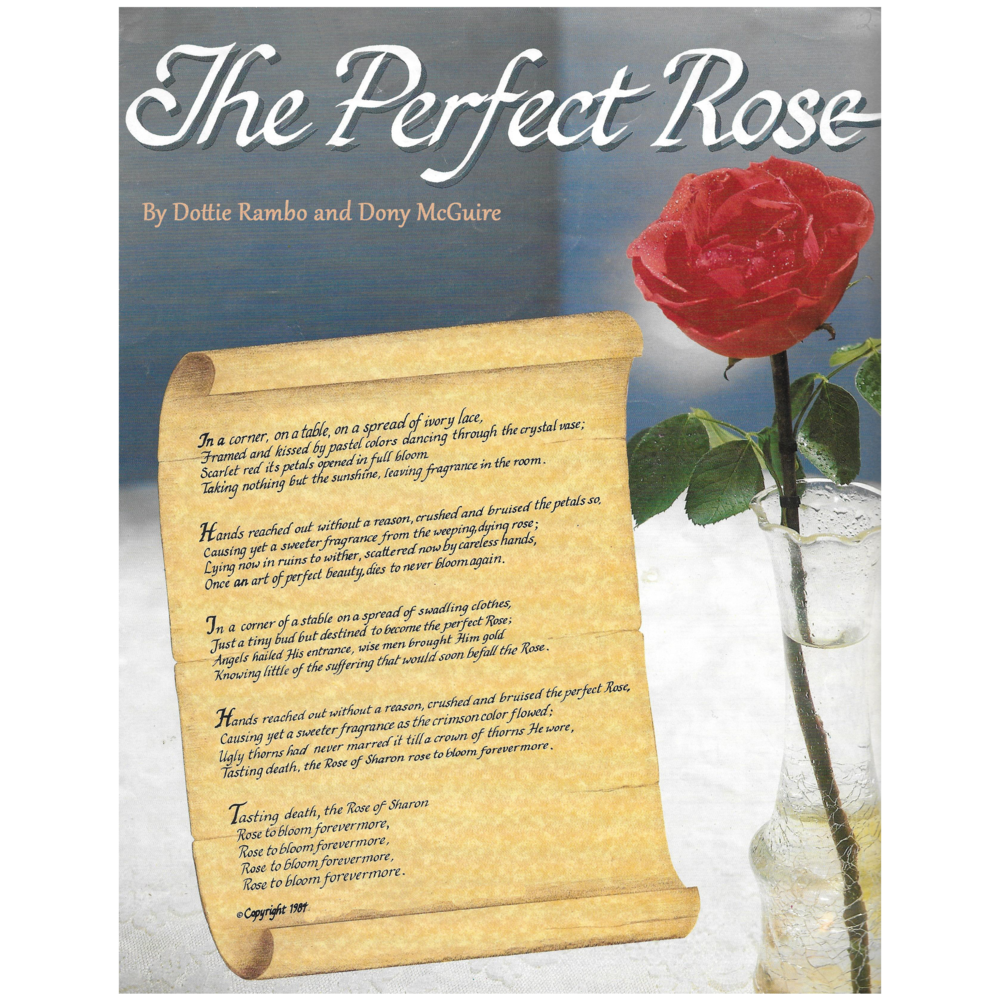 The Perfect Rose Sheet Music Download Dottie Rambo