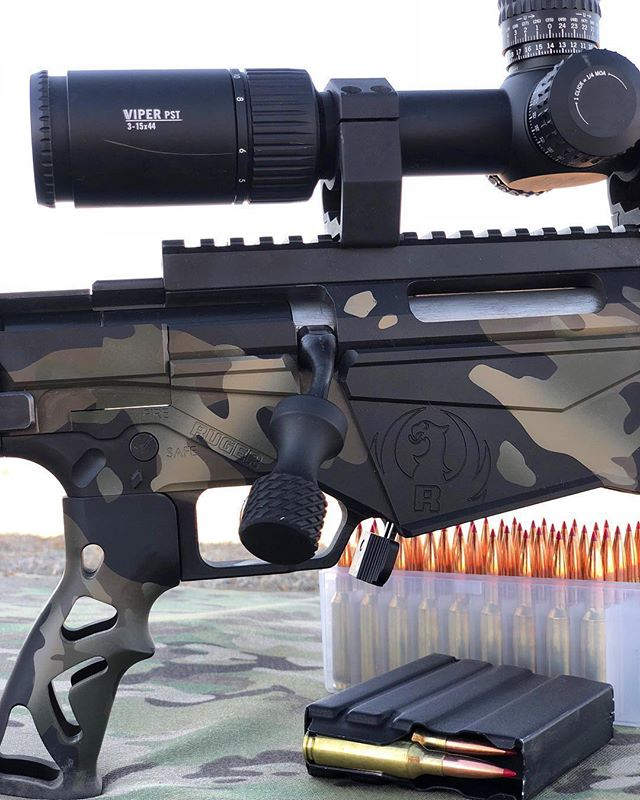 LOVE this @rugersofficial Precision Rifle by @vitamindeeez  His first upgrades were our Mag Release Extension and Hammerhead Bolt Knob.  Fantastic looking setup!  #Repost @vitamindeeez ・・・ The answer to my post from yesterday is 1060yds✔️ A lot of resourcefulness and ingenuity used by everyone! . Closest range estimation with explanation goes to @ryguy2250 and @sleepyglamazon 📝💯 . . . . . . #vortexoptics #vortexnation #ruger #rugerprecisionrifle #cerakote #longrangeshooting #longrange #65creedmoor #308 #sendit #precisionrifle #ar15 #hunting #rifle #sniperrifle #boltaction #firearms #pewpew #igmilitia #gunsofinstagram #vitamindeeez #firearmphotography #rifleholics