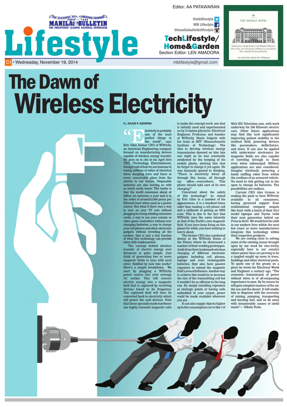 MB Article #07 - The Dawn of Wireless Electricity — Julius Azucena