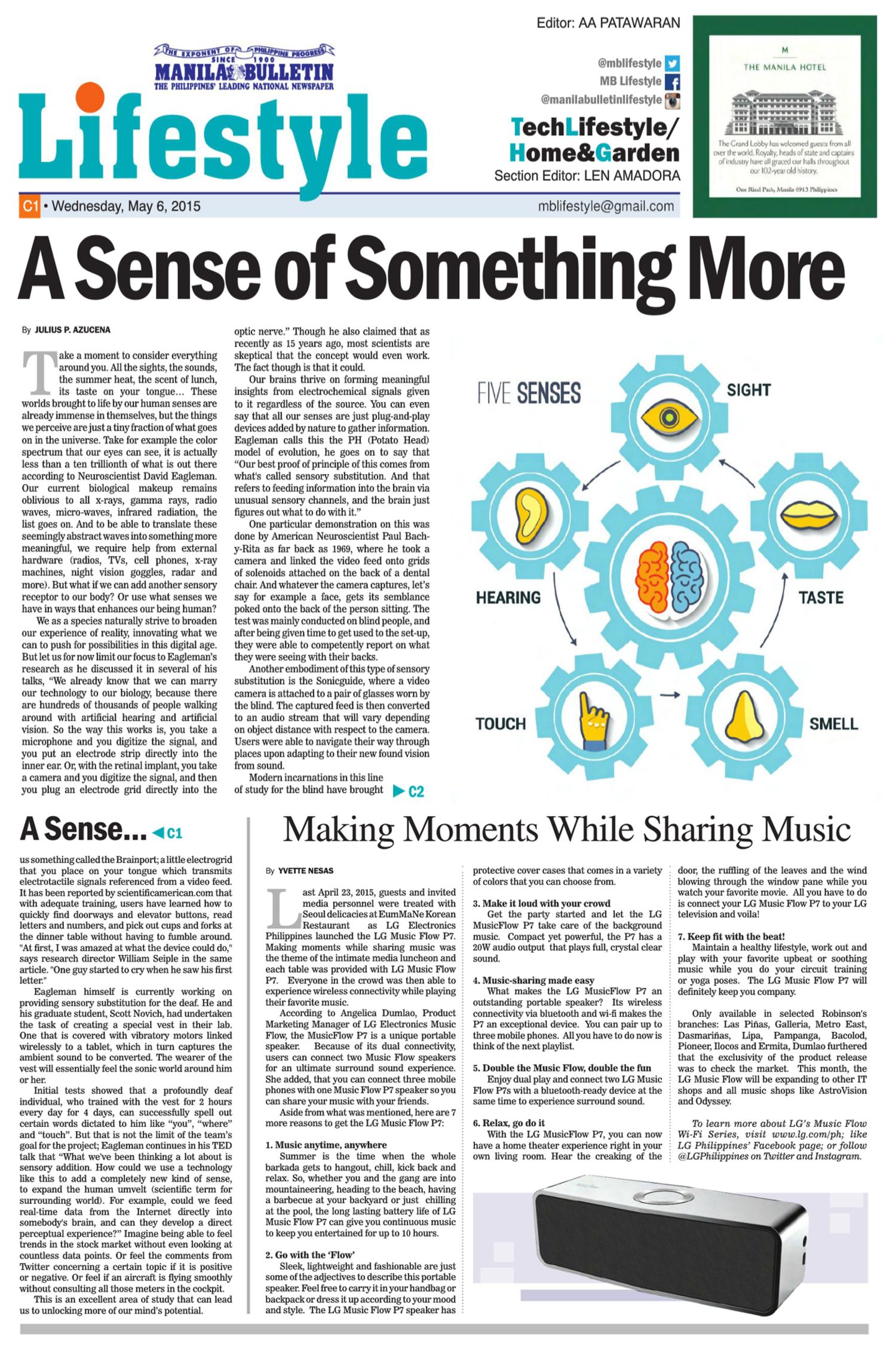 MB Article #19 - A Sense of Something More — Julius Azucena