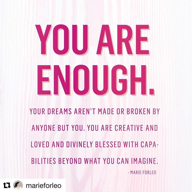 No matter what struggles you may have faced this week and where your business is at now, remember you are enough and have the power to bring your dreams to life!! RP @marieforleo ・・・ #salessistas #sales #selling #salestips #salescoaching #business #womeninbusiness #womeninbiz