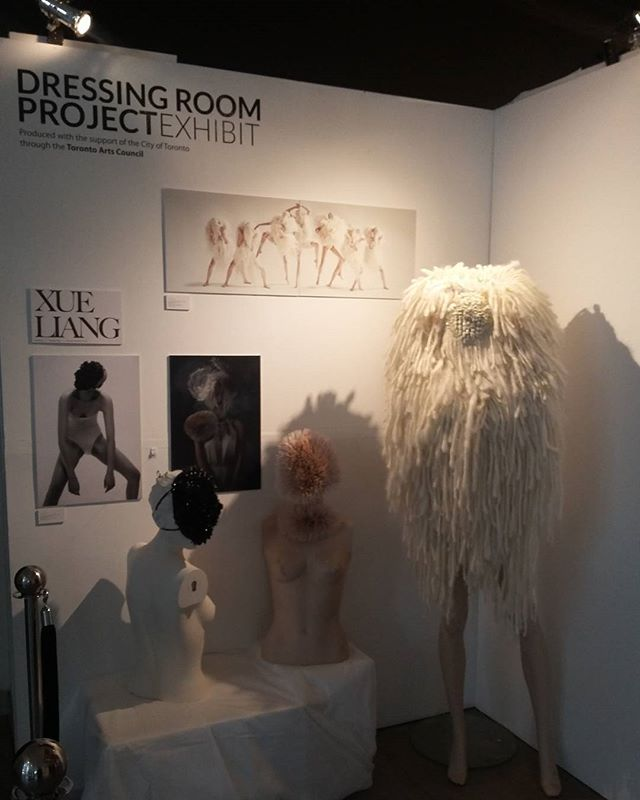 The Dressing Room Project @fashionarttoronto featuring the work of @xliangdesign #fashionarttoronto #wearableart #design  #sustainable