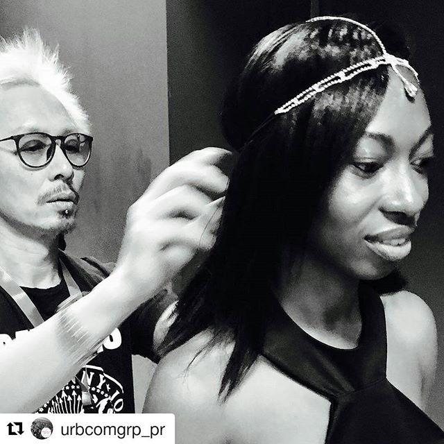 #Repost @urbcomgrp_pr with @repostapp ・・・ @carlos_spellboundhairdesign @annalayaccessories @83.studio #tiara #hairdesign #fashionartstoronto2017 #fat2017