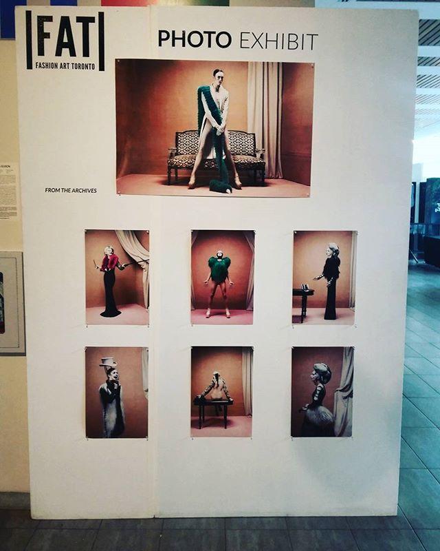 Day 2 @fashionarttoronto amazing photo exhibit #Fashionarttoronto #photoexhibit #archives
