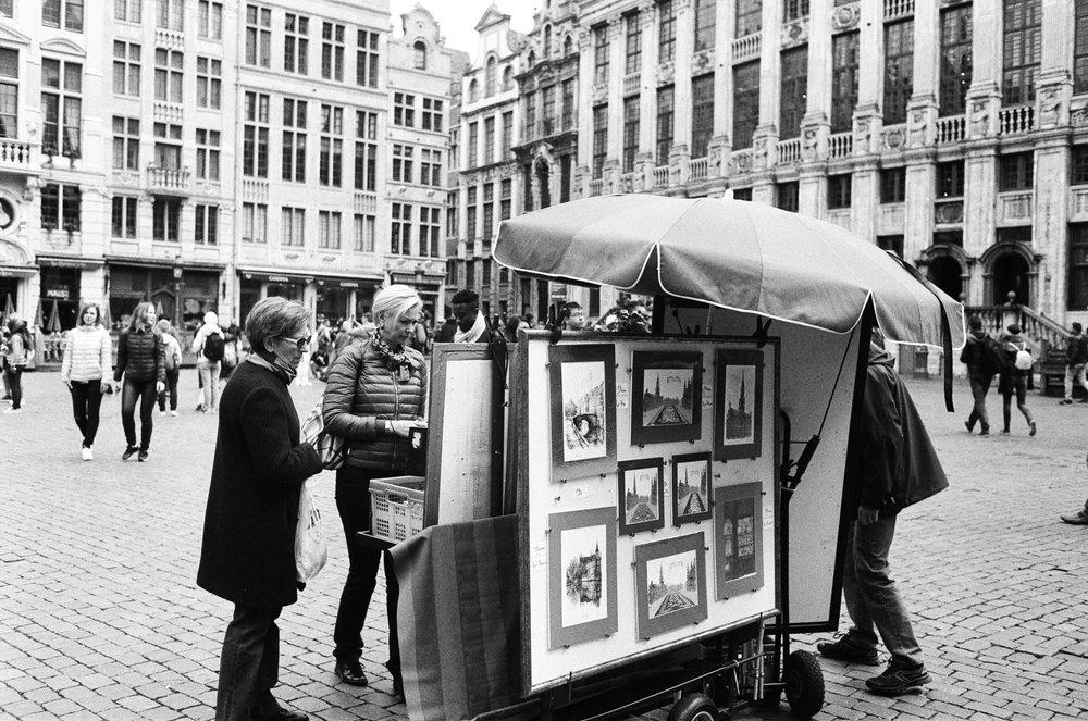 Belgium street vendors