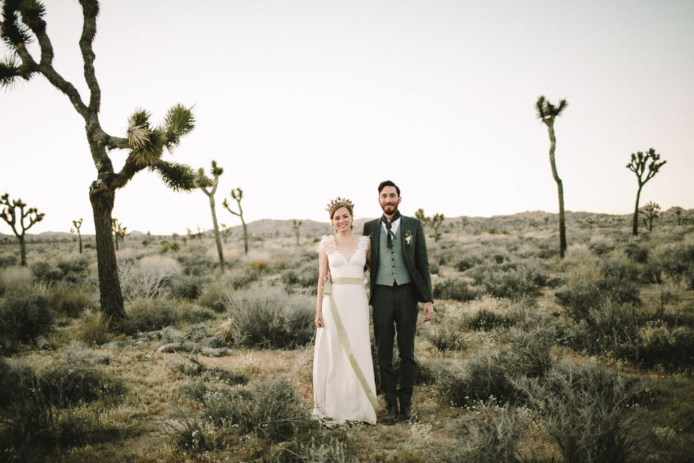 sunset wedding portraits in the desert