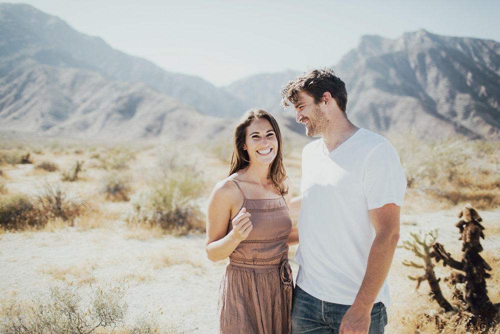 desert engagement photos