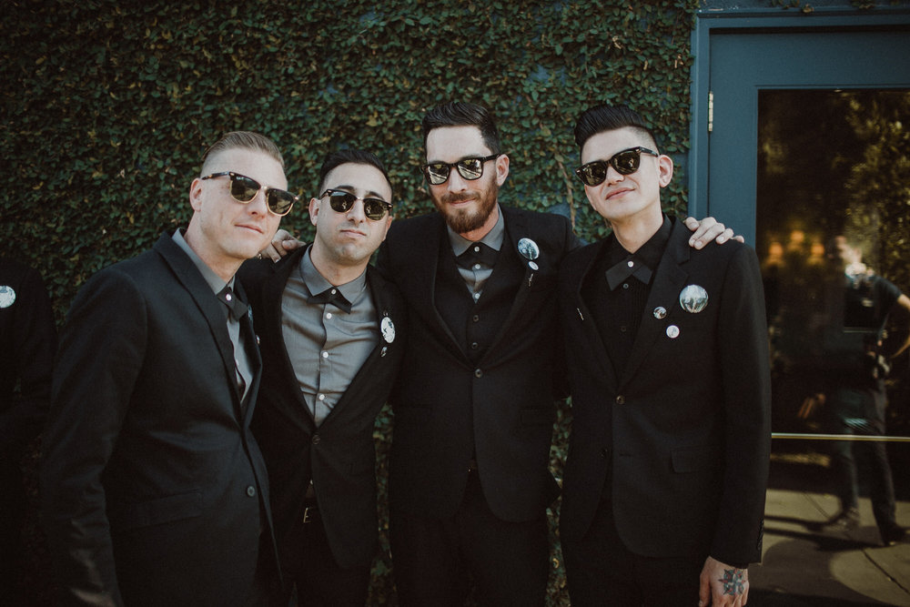 the groomsmen before the wedding ceremony