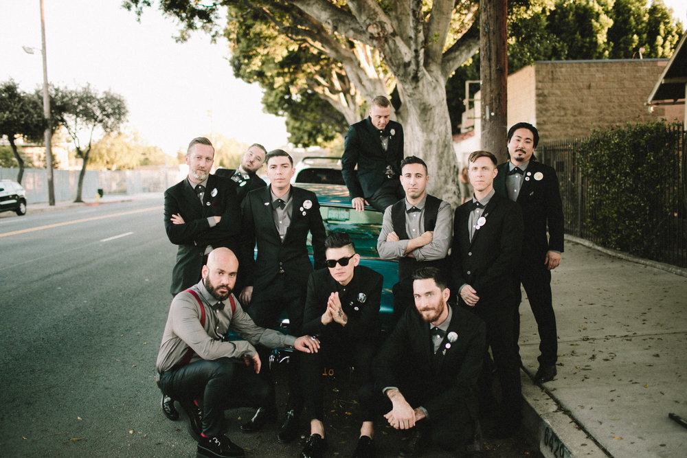 groomsmen portrait in los angeles