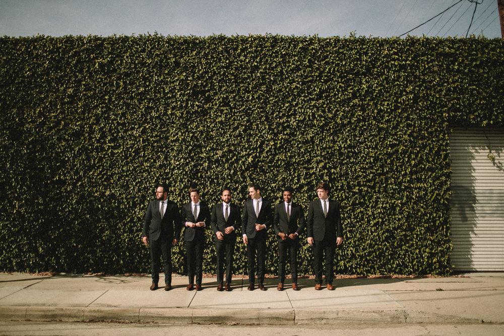 groomsmen portraits in los angeles