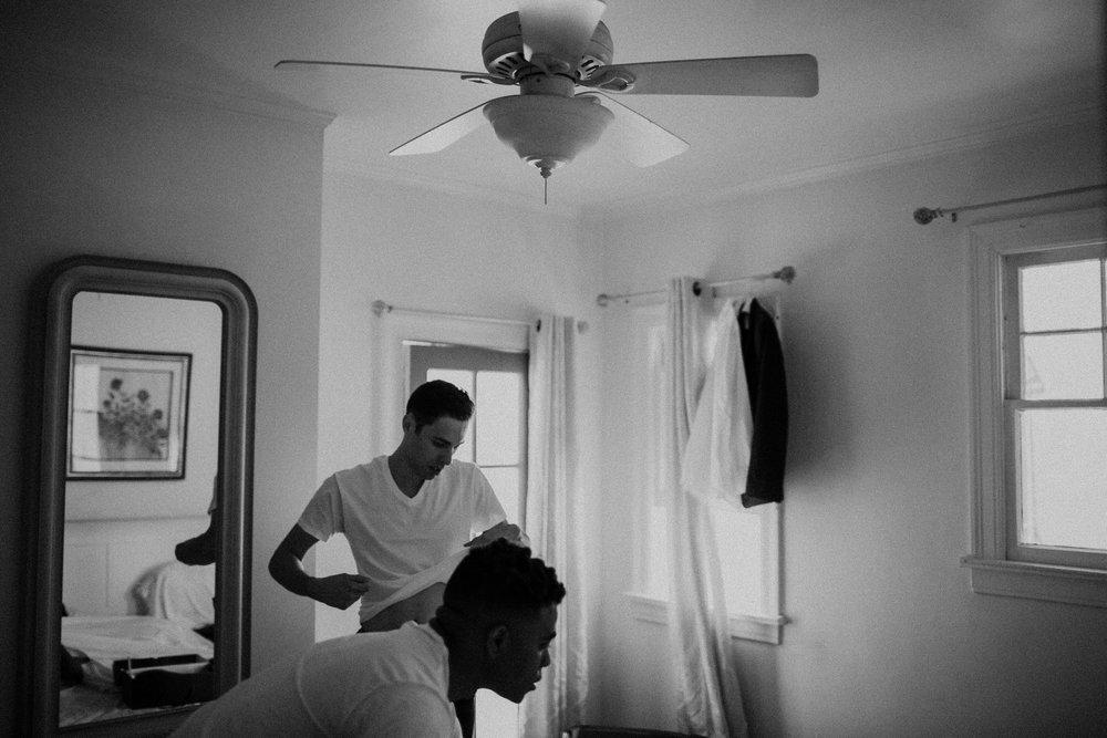 groomsmen getting ready in los angeles