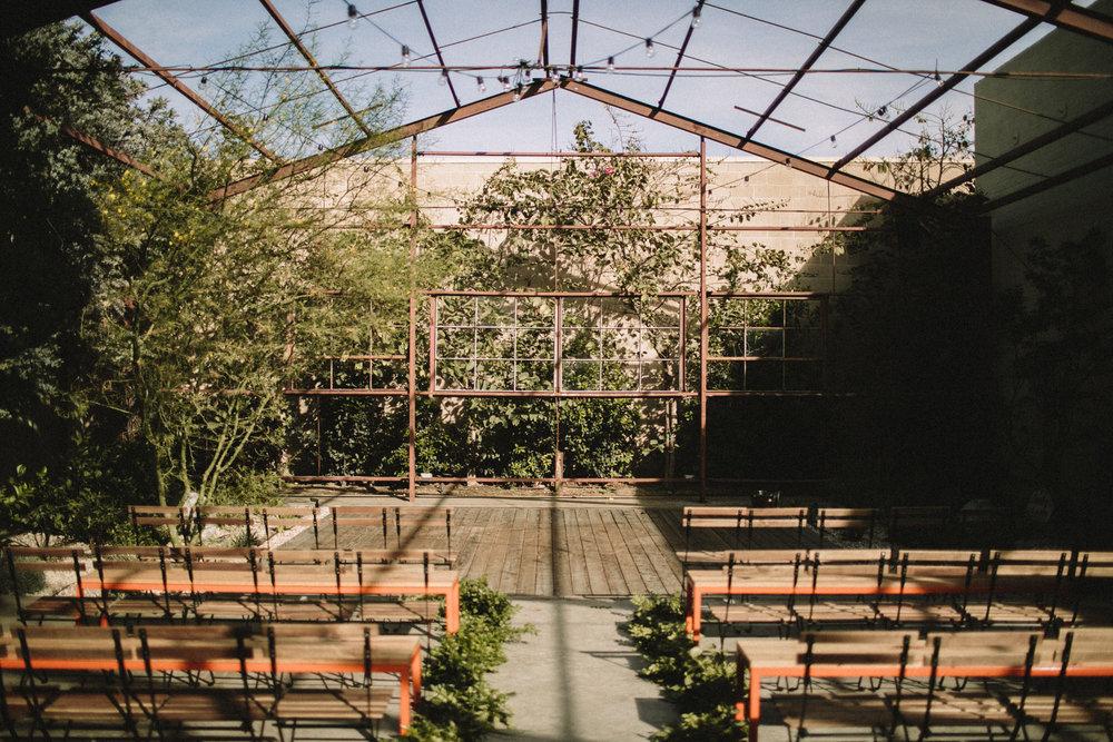 ceremony location at the elysian