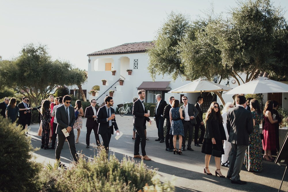 Guests arriving to the Ceremony at Ojai Valley Inn