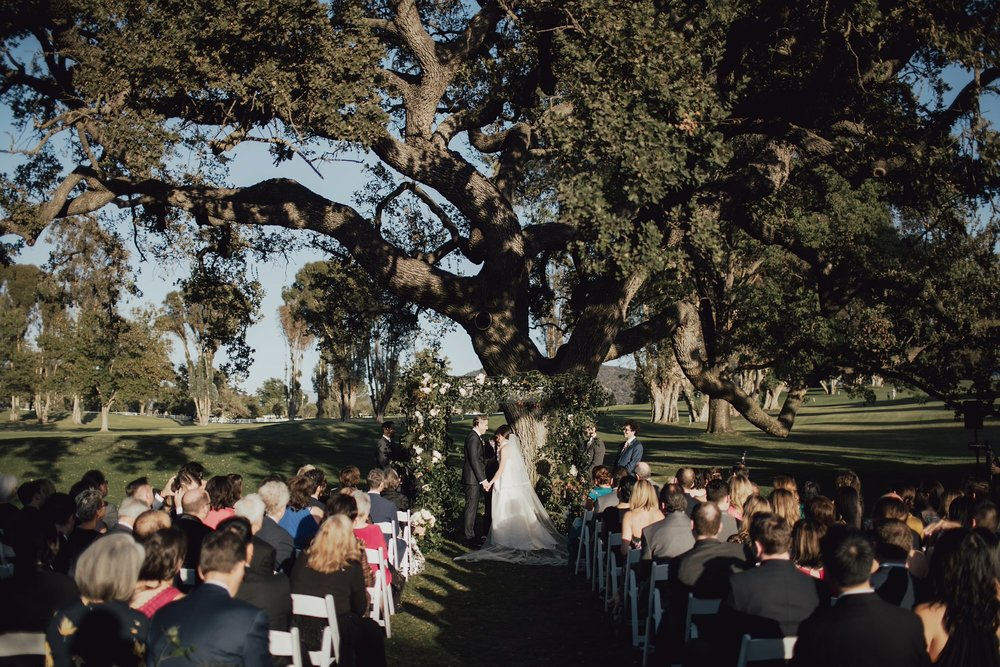 Exchanging Vows at the Ojai Valley Inn