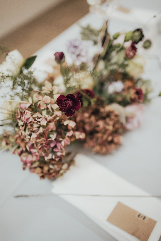trendy details at wedding reception