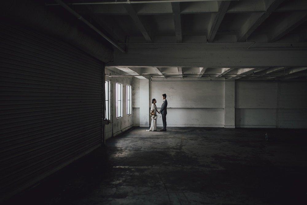 Parking Garage wedding photo