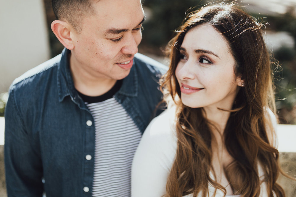 intimate engagement photos with vanessa and ryan