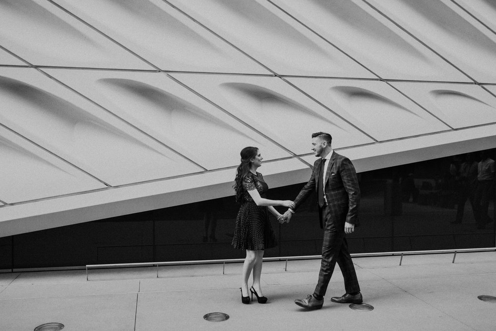 engagement photos at the broad