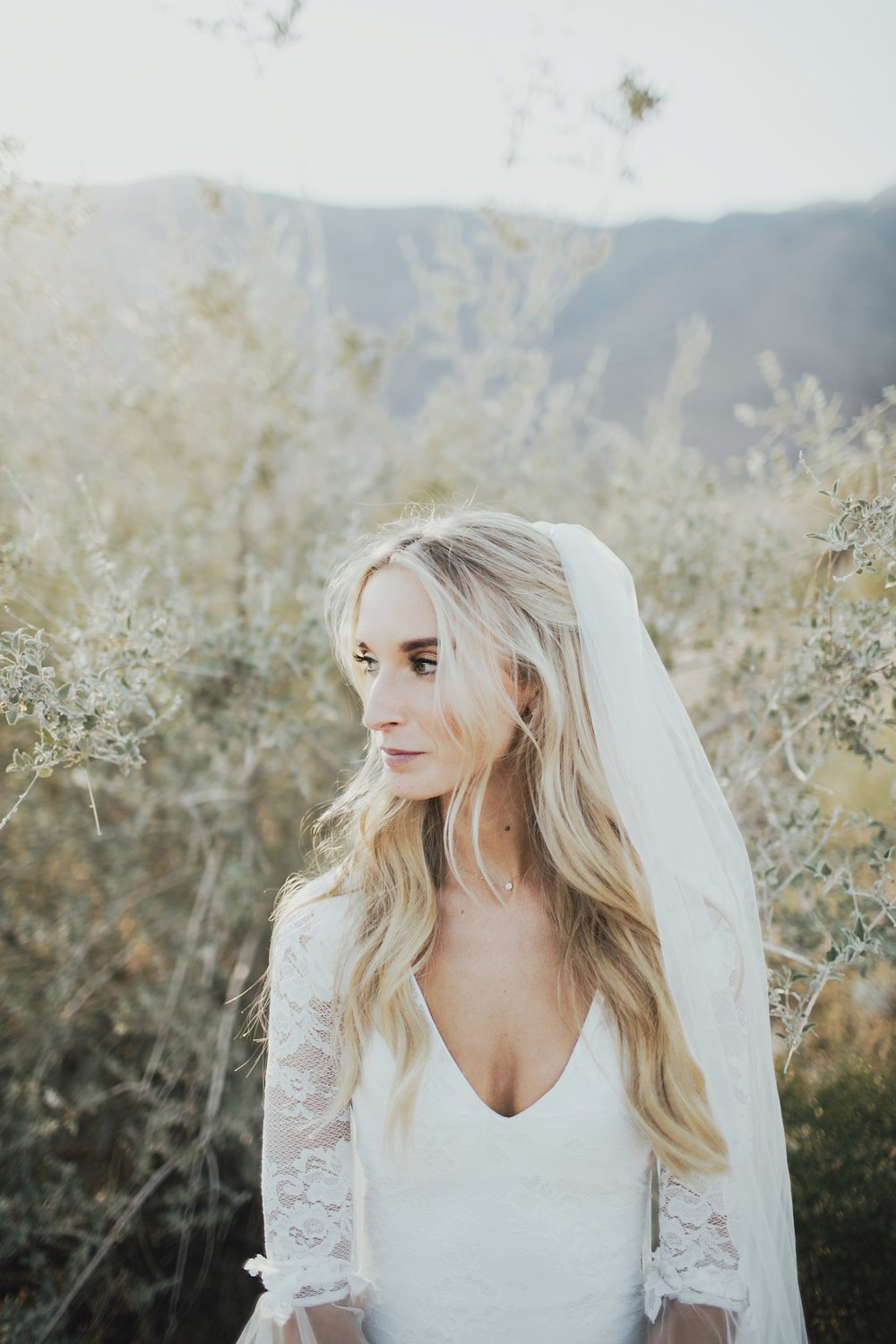 bridal portraits in joshua tree