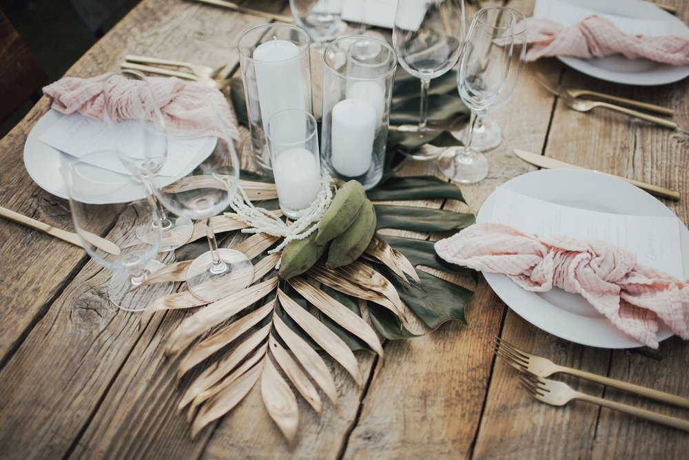 bohemian wedding day details