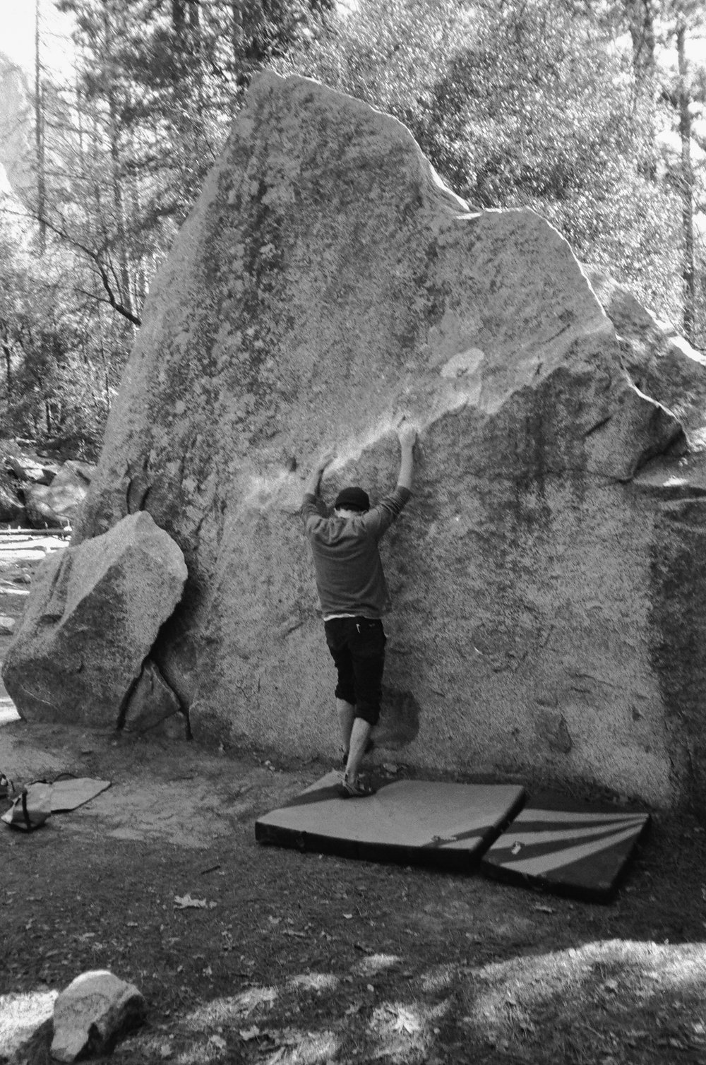 boulder routes at camp 4 in yosemite