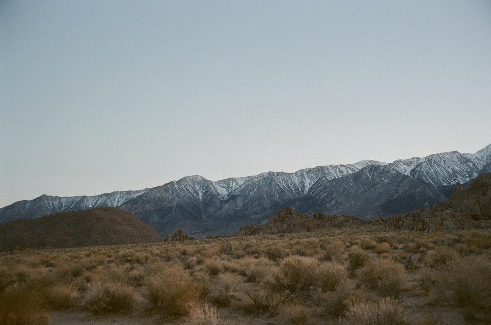 Eastern Sierra mountains by Alabama Hills, Ca