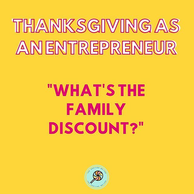 There isn't one. • • Do you ask Nike for a discount? • • Do you ask Gucci for a discount? • • Put me in that same category. • • #thespoiledwriter #thanksgivingasanentrepreneur