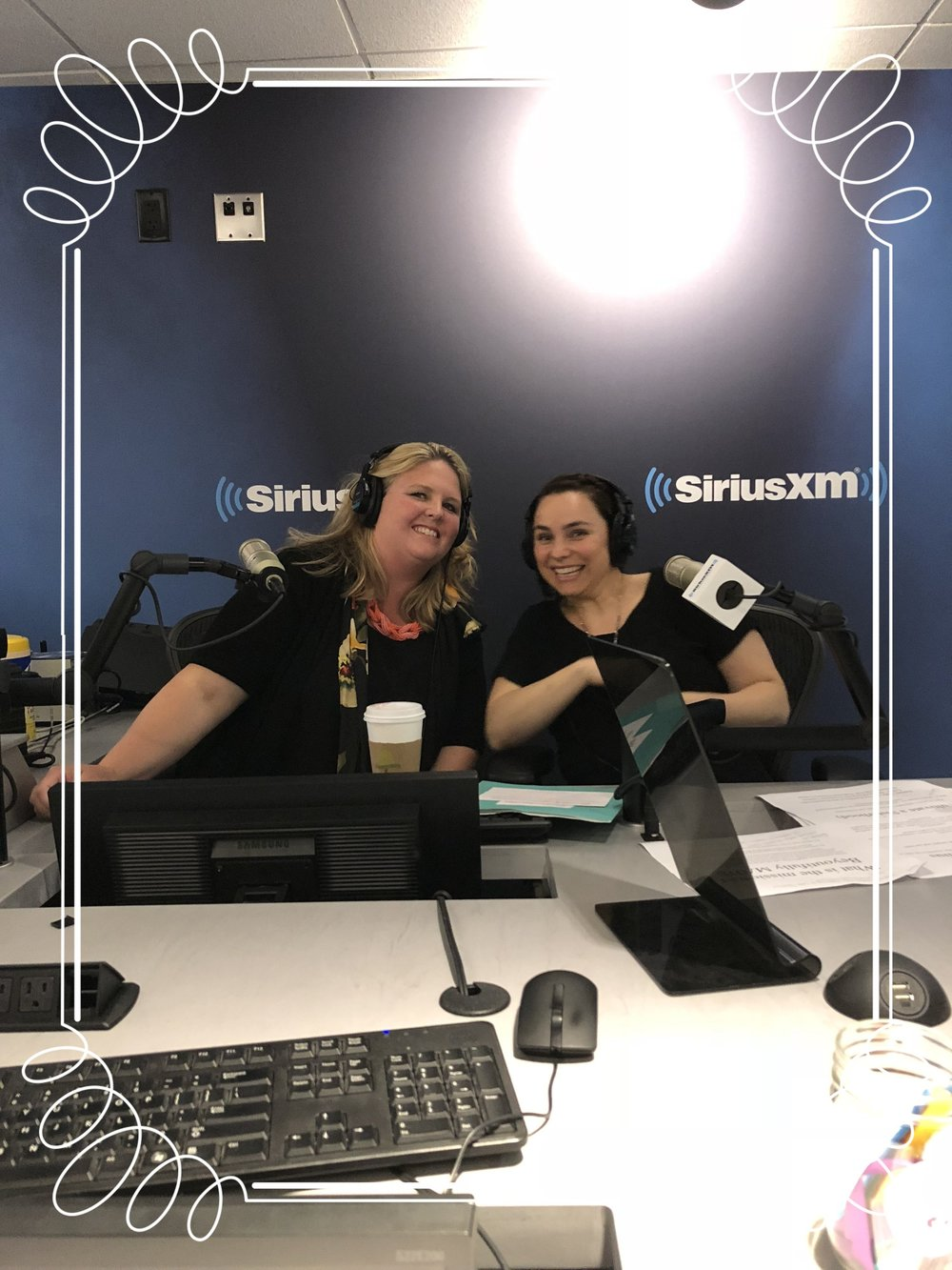 on the jennifer fulwiler show - at the SiriusXM studios in Manhattan
