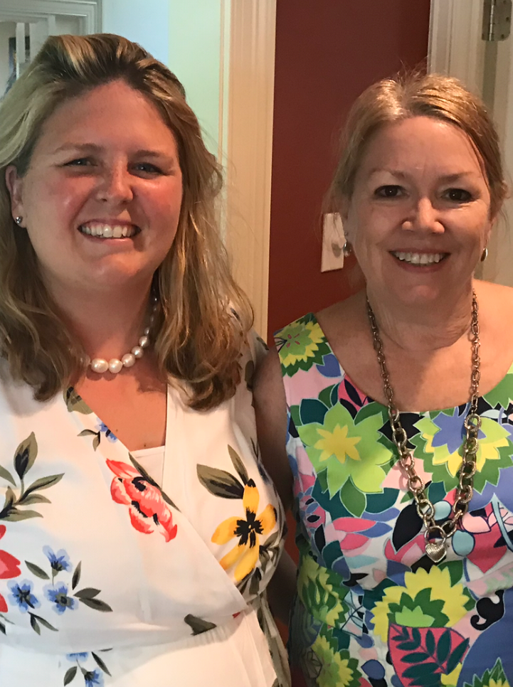 Lisa, Priscilla McCaffrey, Angela Marchetti, and Alexandra McLaughlin chat about  8 Tips to Keep Laughing  over espresso and cookies in Lisa's quiet dining room on a lovely spring afternoon.
