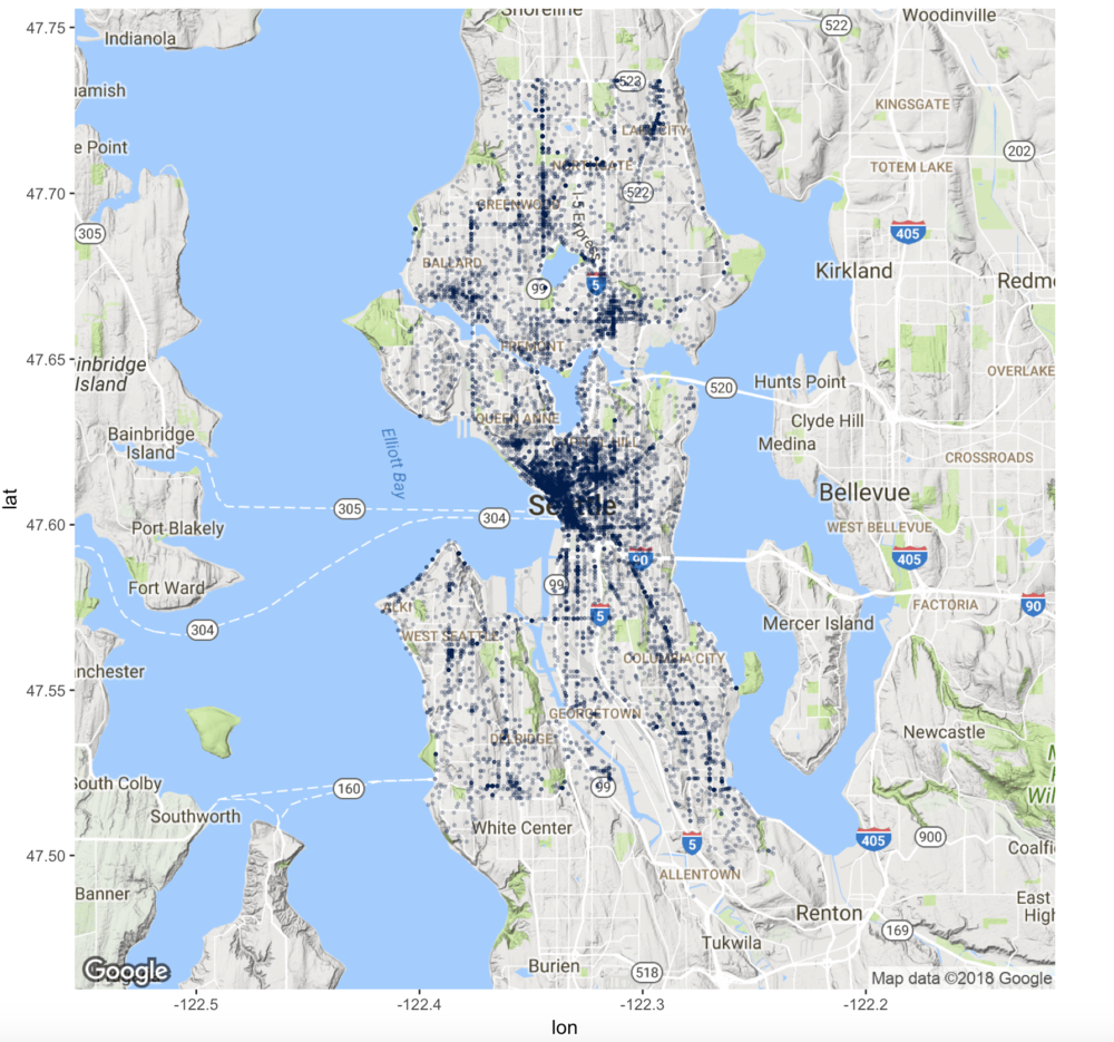 Map Plots Created With R And Ggmap Little Miss Data - Make points on a map