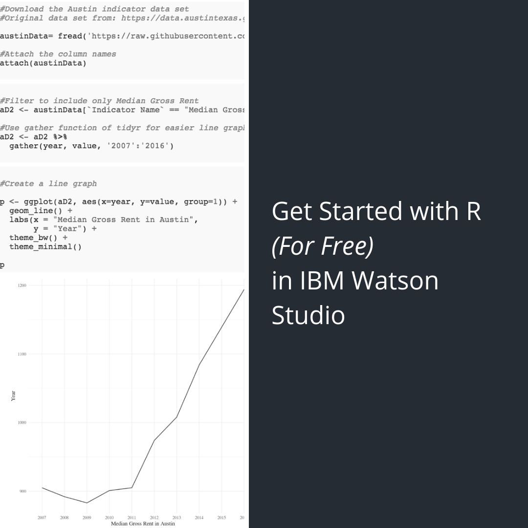 Get Started with R (For Free) in IBM Watson Studio — Little Miss Data