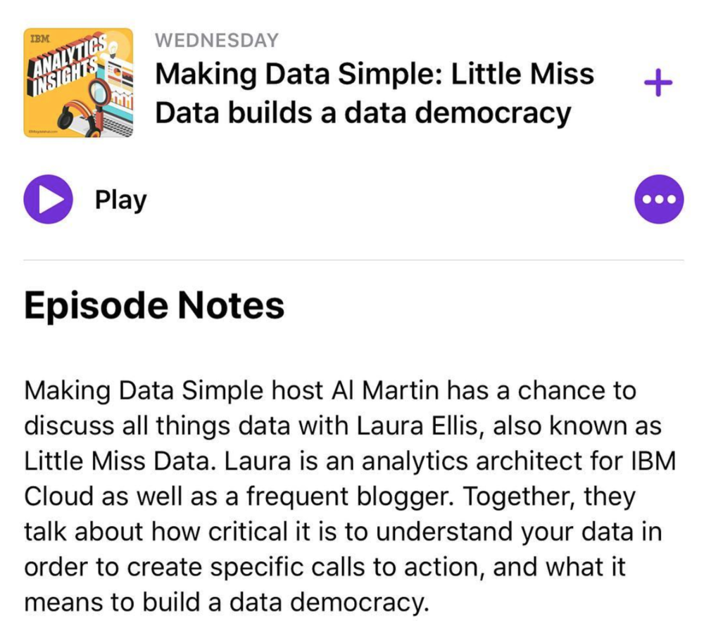 Making Data Simple - The podcast can be found on a variety of channels from the Apple Podcasts App to iTunes, Stitcher, YouTube and Player FM