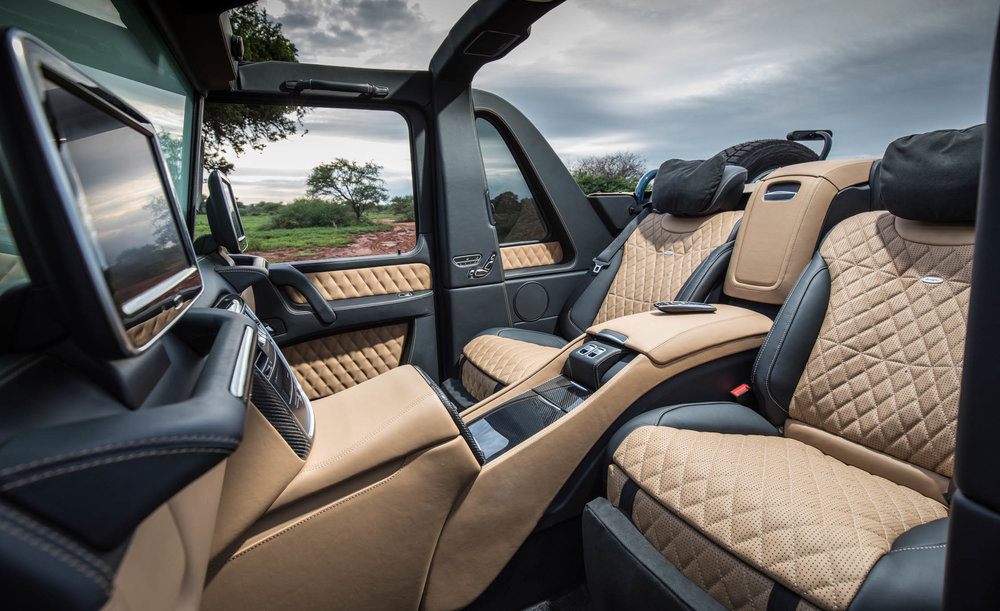 2017 mercedes maybach g650 landaulet - interior — trap.la