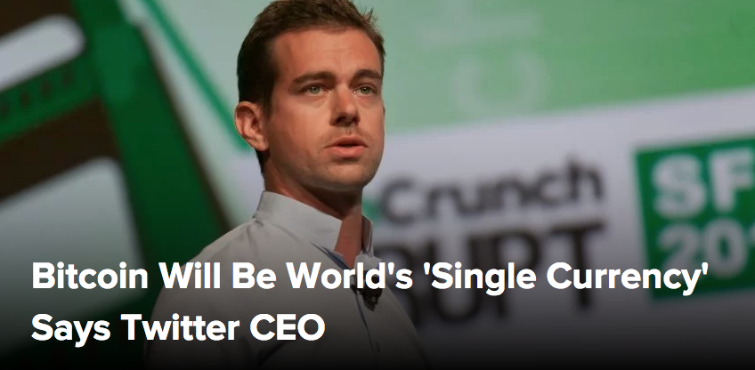 """""""The world ultimately will have a single currency, the internet will have a single currency. I personally believe that it will be bitcoin."""""""