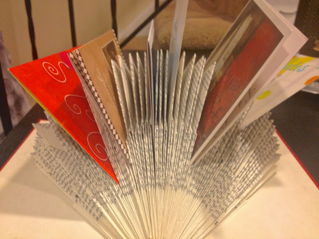 Another guest made a book to hold greeting cards. With a different fold,  a book is ready to hold cards for a special celebration event- Birthday,Anniversary, or Just Because.