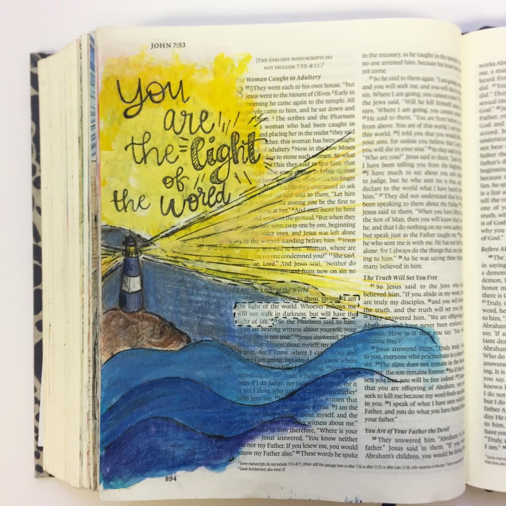 "Andrea KiLpatrick   John 8:12  ""You are the light of the world"" This verse has a special meaning for me this year especially as my school was greatly affected by the Hurricane Harvey. Our theme verse is Matthew 5:16, and our theme is ""SHINE"" as we let our light shine before others. Throughout the flood and storm, our school continued to be a light for the Houston area. Despite our own devastation, we have seen God's light in the darkness."