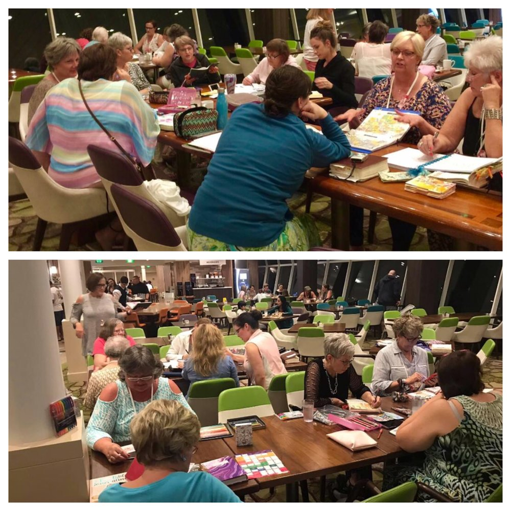 We gathered in the evenings in the Windjammer food court for times of sharing and encouragement.